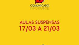 COMUNICADO: Aulas suspensas